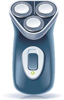 illustration of an electric razor