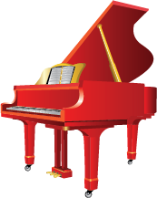 Illustration of a grand piano