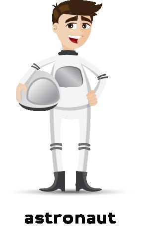 Illustration of an astronaut wearing a uniform
