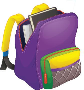 Illustration of a backpack