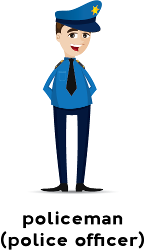 Illustration of a policeman in uniform