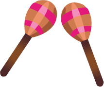 Illustration of a pair of maracas