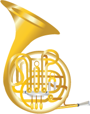 Illustration of a French horn