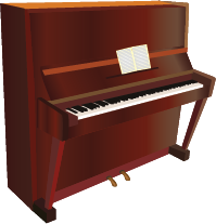 Illustration of a piano