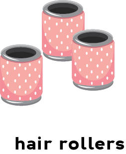 Illustration of hair rollers