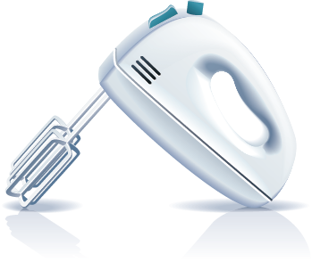 Illustration of a hand mixer