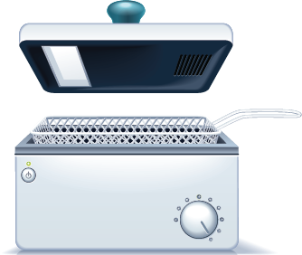 illustration of a deep fryer