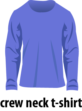 illustration of a crew neck t-shirt