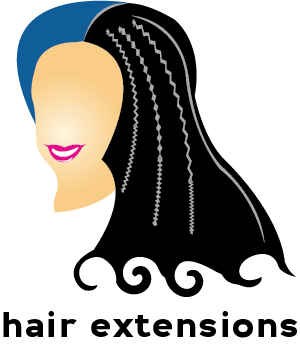 Illustration of hair extensions