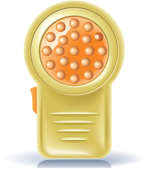 illustration of an anti-cellulite massager