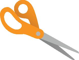 Illustration of a pair of scissors