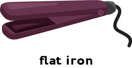 Illustration of a flat iron