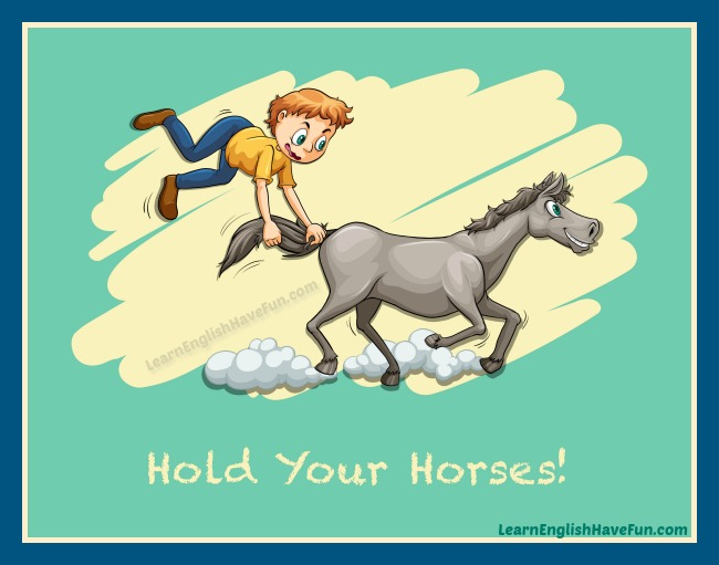 Boy flying up in the air holding onto a running horse's tail.