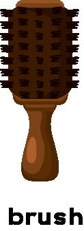 Illustration of a hair brush