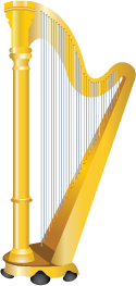 Illustration of a harp
