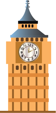 Illustration of a clock tower