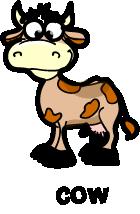 illustration of a cartoon cow