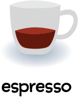 Illustration of a glass of espresso