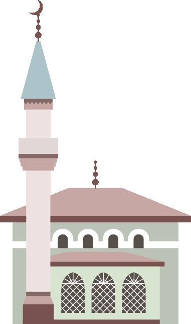 Illustration of a mosque an minaret
