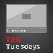 Icon image with tv screen and words: TED Tuesdays