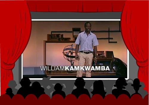 Picture of William Kamkwamba speaking on stage
