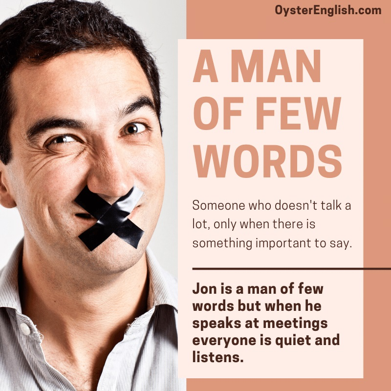 Image of a man with tape over his mouth depicting the idiom of