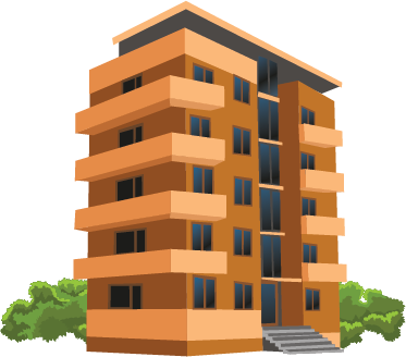 Illustration of an apartment building