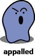 Cartoon blob shape that looks appalled