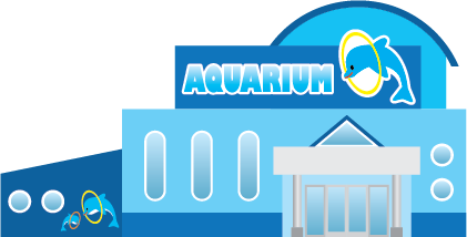 Illustration of the exterior of an aquarium