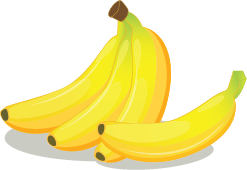 Illustration of a bunch of bananas