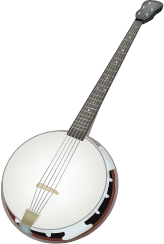 Illustration of a banjo