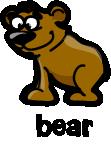illustration of a cartoon brown bear