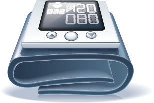 illustration of a blood pressure monitor