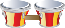 Illustration of bongo drums