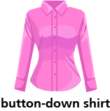 illustration of a button-down shirt