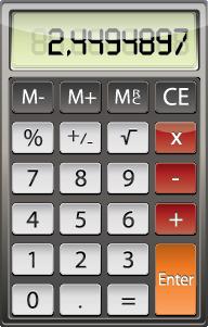 Illustration of a hand held calculator