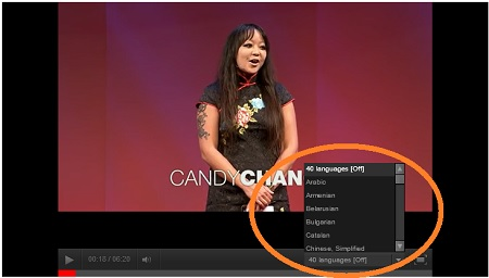 Image showing how to access video subtitles menu