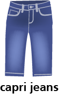 illustration of a pair of Capri jeans