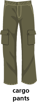 illustration of cargo pants