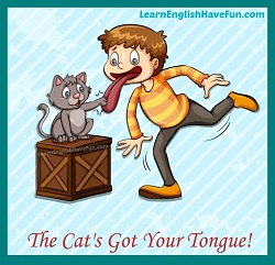 Thumbnail image: Cat's got your tongue