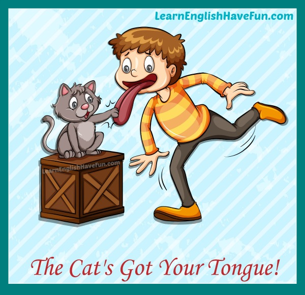 Idiom: Cat got your tongue? (meaning & examples)