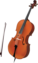 Illustration of a cello