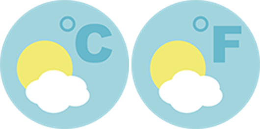 two round icons with