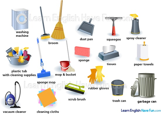 Best Way To Dust Furniture Concept cleaning supplies vocabulary