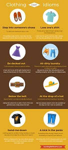 link to Clothing idioms infographic
