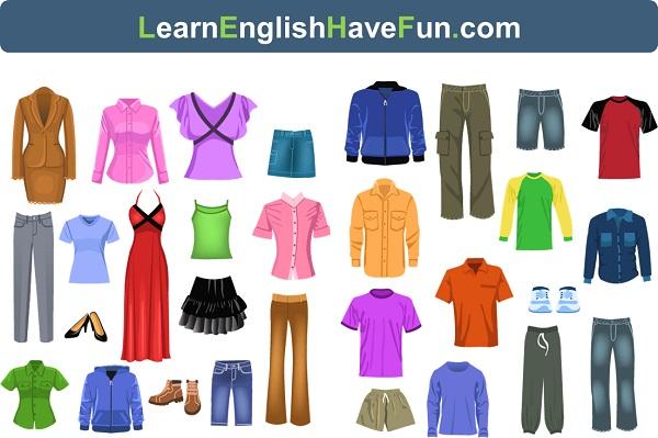 English Clothing Vocabulary