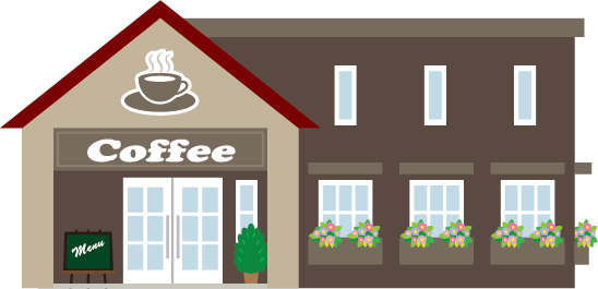 Illustration of a coffee shop exterior