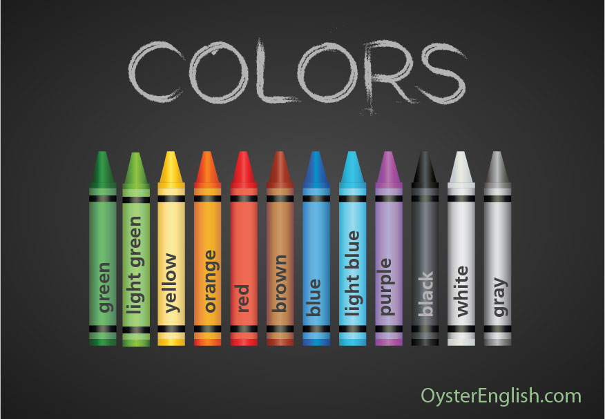 12 different colored crayons