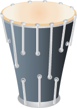 Illustration of a conga drum