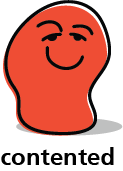 Cartoon blob shape that looks content